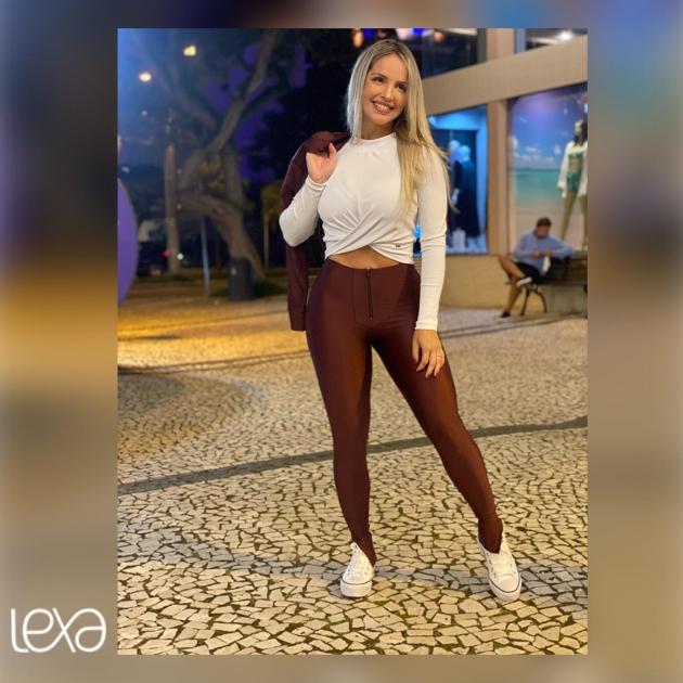 Blusa Luciana ML Canelada Branca