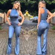 Body Flávia Azul Jeans