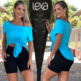 Camiseta Alice Dry Fit Azul Claro