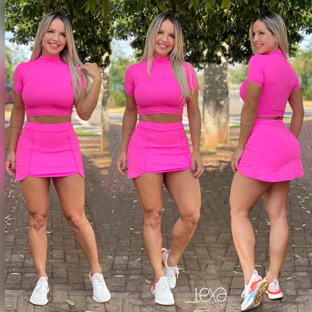 Conjunto Kelly Luna Rosa Neon