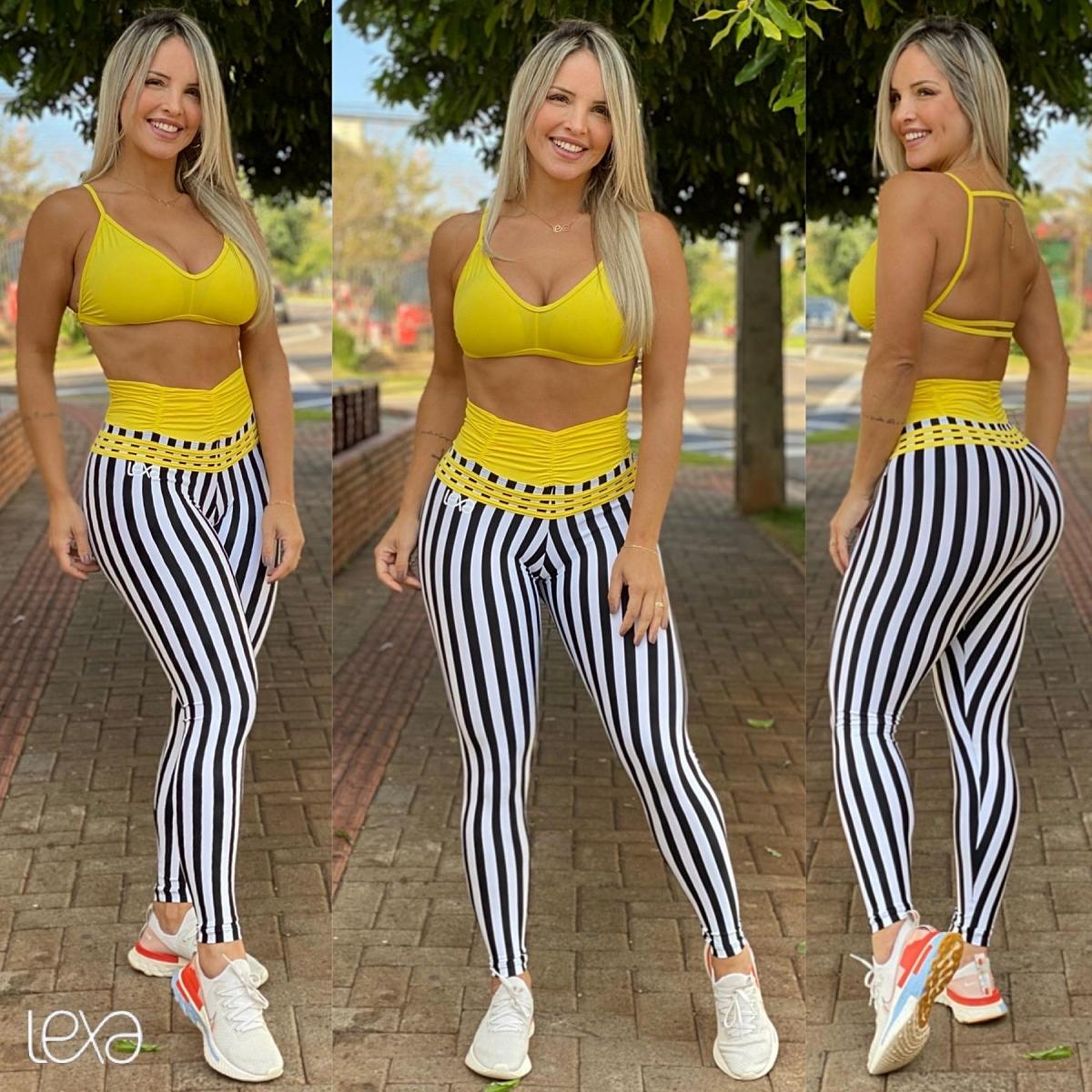 Legging Ca7 Linhares Cós Amarelo