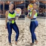 Legging Trilhos Cirré Azul Marinho