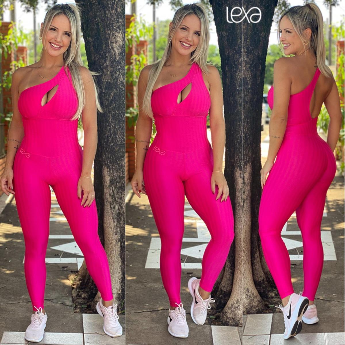 Macacão M11 Zigue-Zague Pink Neon