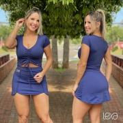 Saia Shorts Luna Azul Marinho