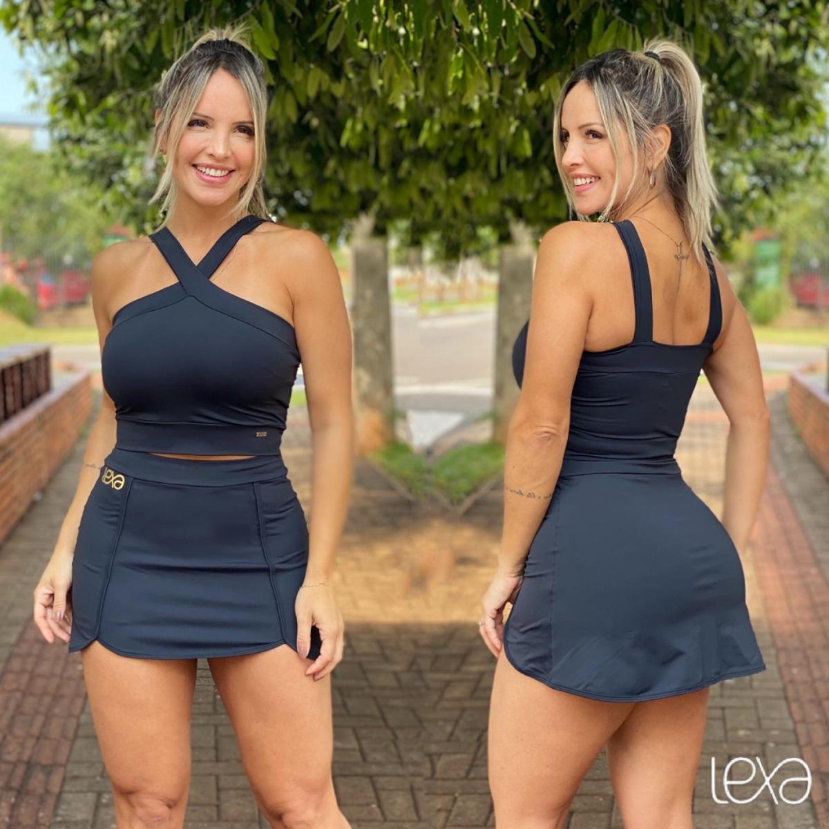 Saia Shorts Luna Preta