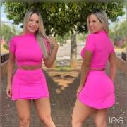 Saia Shorts Luna Rosa Neon