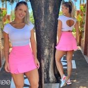Saia Shorts Tânia Rosa Chiclete