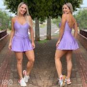 Saia Shorts Zumbar Glow Lilás
