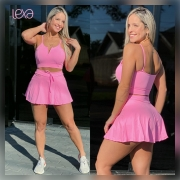 Saia Shorts Zumbar Rosa Chiclete