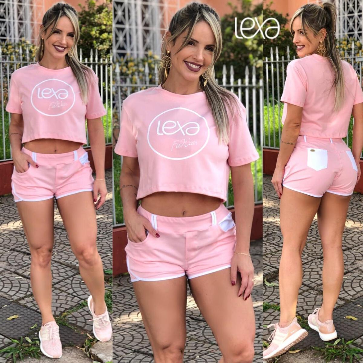 Shorts Casual Molecotom Rosa Bebê