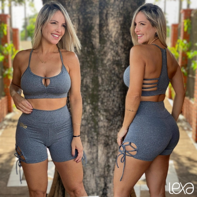 Shorts Cruzado Mescla