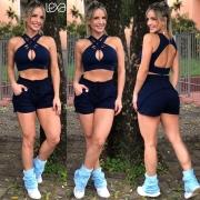 Shorts Eliana Azul Marinho