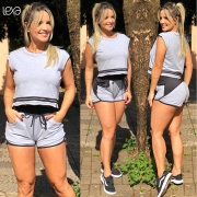Shorts Eliana Mescla Detalhe Preto