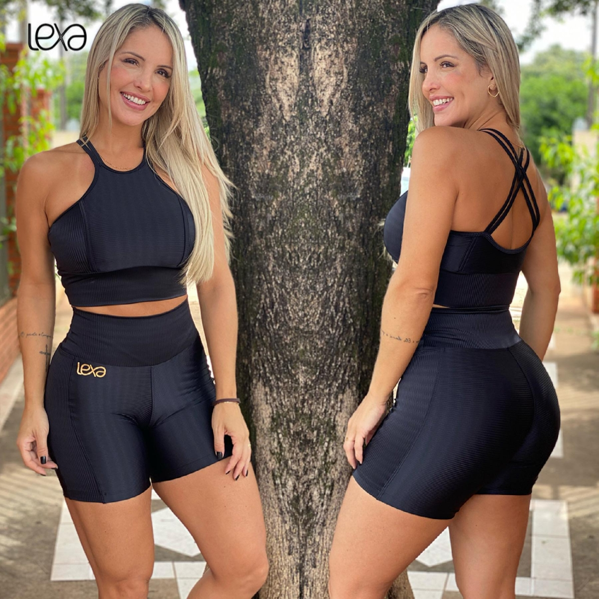 Shorts Faixa Zigue-Zague Preto