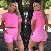 Shorts Lívia Rosa Chiclete