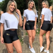 Shorts Montaria2 Preto Cirré