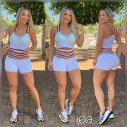 Shorts Rainbow Branco
