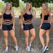 Shorts Rainbow Preto