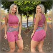 Shorts Sofia Mesclado Rosa