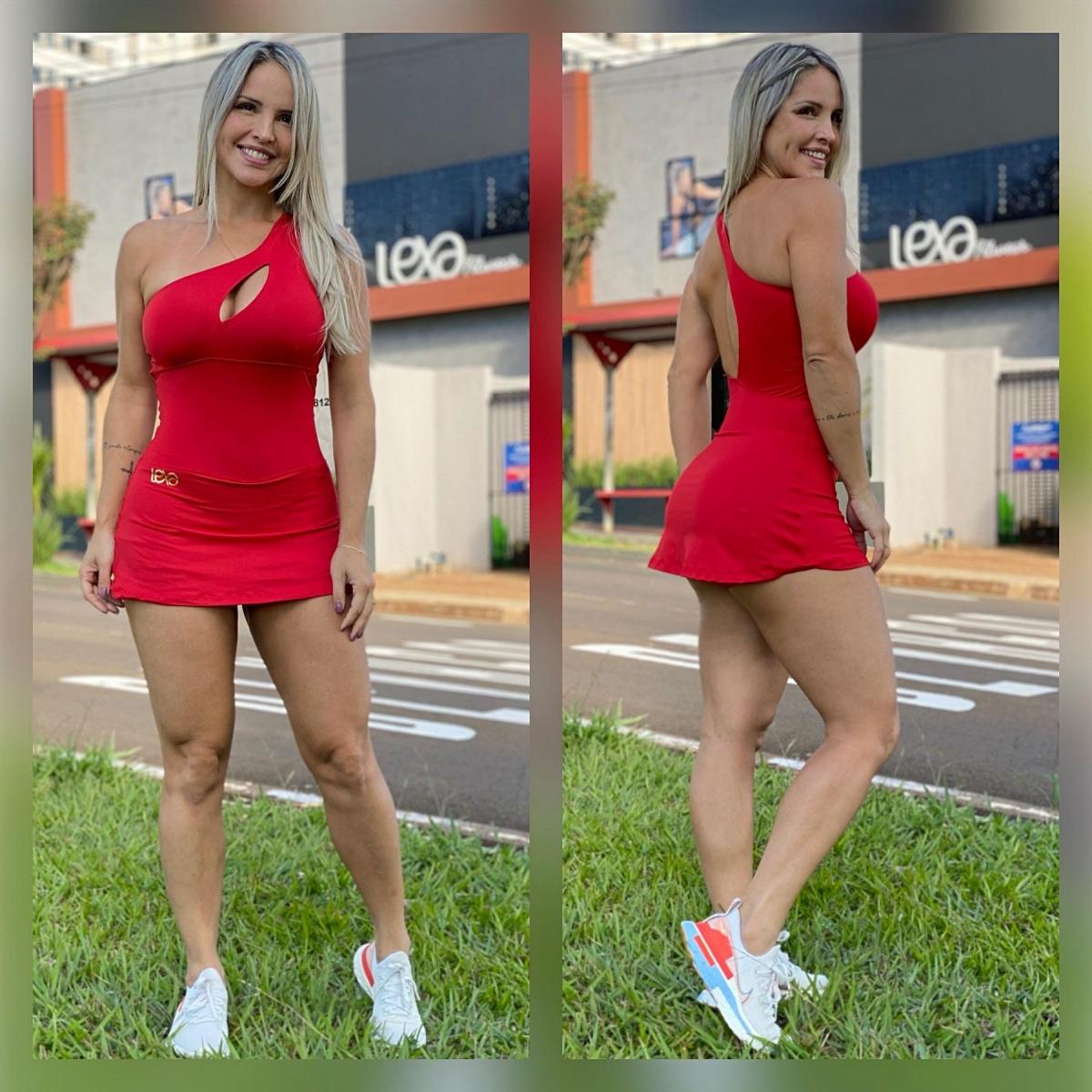 Vestido 1 Ombro Vermelho