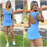 Vestido 3 Azul Bebê