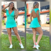 Vestido 3 Verde Água