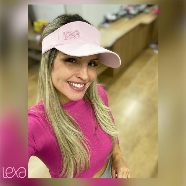 Viseira Lexa Rosa Bebê